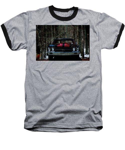 Car Art Chevy Chevelle Ss Hdr Baseball T-Shirt by Lesa Fine
