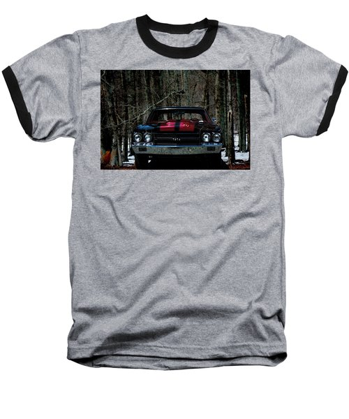 Car Art Chevy Chevelle Ss Hdr Baseball T-Shirt