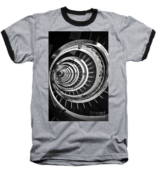 Time Tunnel Spiral Staircase In Sao Paulo Brazil Baseball T-Shirt