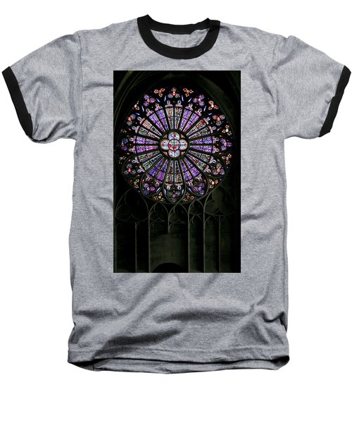 Carcassonne Rose Window Baseball T-Shirt