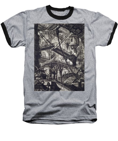 Carceri Vii Baseball T-Shirt by Giovanni Battista Piranesi