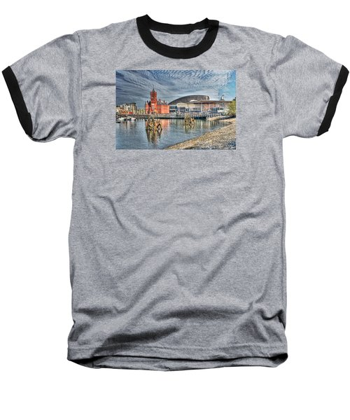 Cardiff Bay Textured Baseball T-Shirt by Steve Purnell