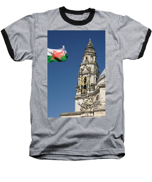 Cardiff City Hall Baseball T-Shirt by Jeremy Voisey