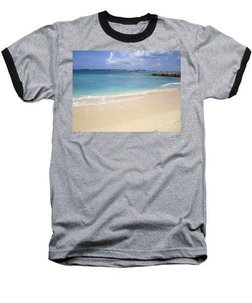 Baseball T-Shirt featuring the photograph Caribbean Beach Front by Fiona Kennard