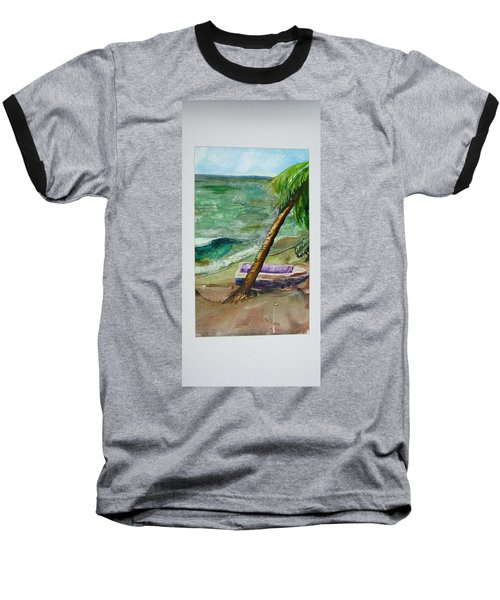 Caribbean Morning II Baseball T-Shirt
