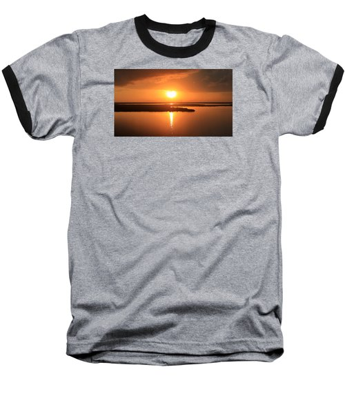 Baseball T-Shirt featuring the photograph Caribbean Sunset by Milena Ilieva
