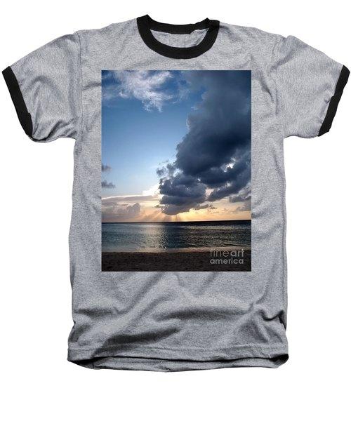 Caribbean Sunset Baseball T-Shirt