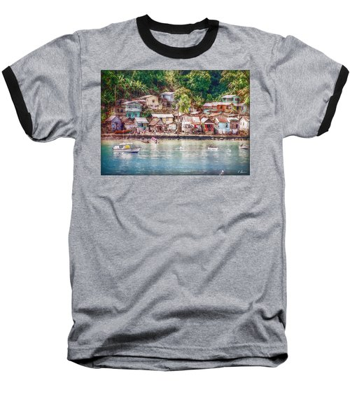 Baseball T-Shirt featuring the photograph Caribbean Village by Hanny Heim