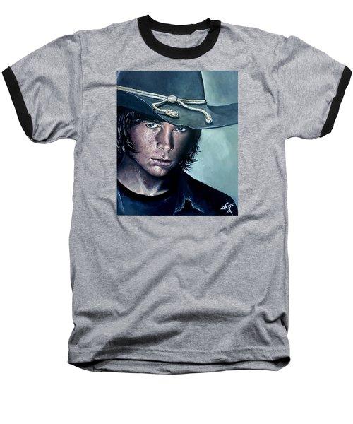 Carl Grimes Baseball T-Shirt by Tom Carlton