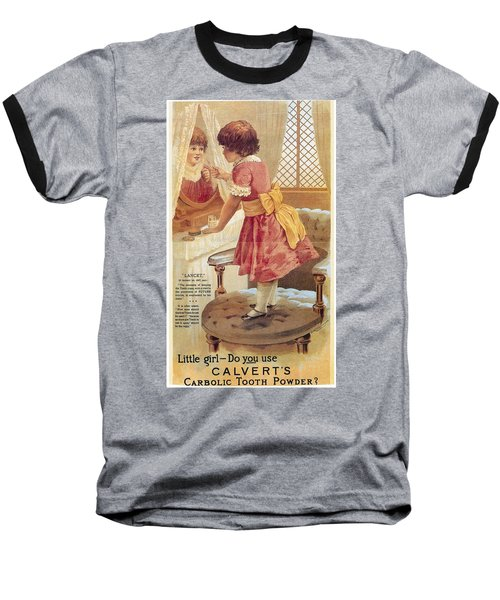 Baseball T-Shirt featuring the photograph Carlvert's Carbolic Tooth Powder Ad by Gianfranco Weiss