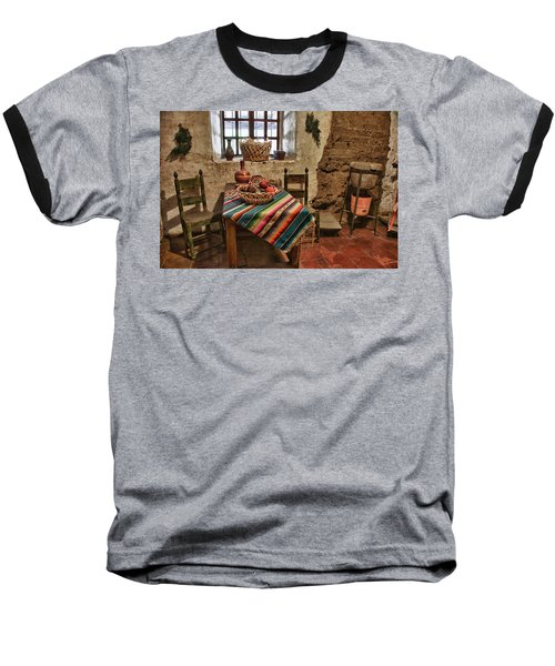 Carmel Mission 7 Baseball T-Shirt by Ron White