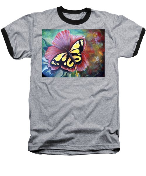 Carnival Butterfly Baseball T-Shirt