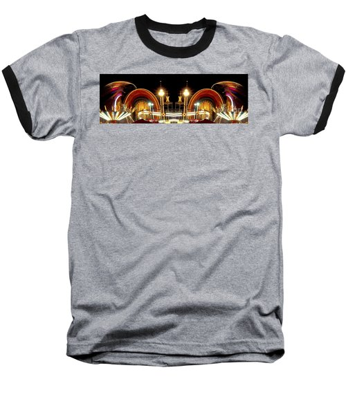 Carnival Light Patterns At Night Baseball T-Shirt