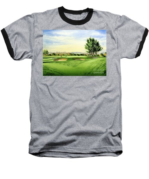 Carnoustie Golf Course 13th Green Baseball T-Shirt by Bill Holkham