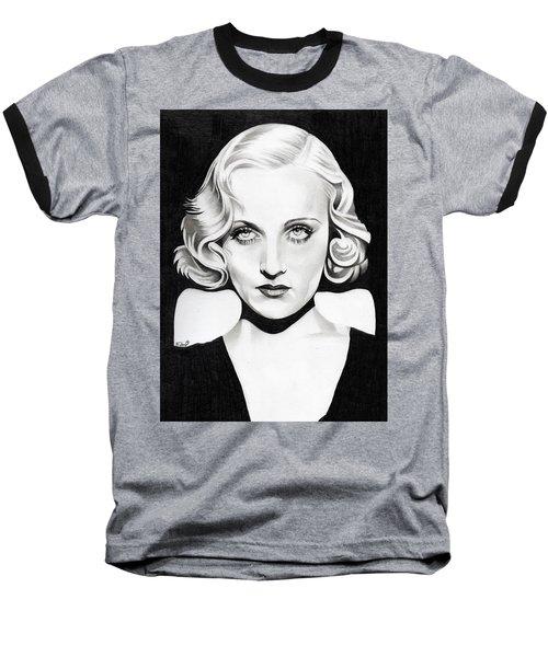Carole Lombard Baseball T-Shirt by Fred Larucci