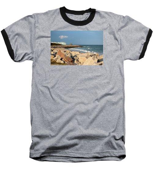 Baseball T-Shirt featuring the photograph Carolina Coast by Cynthia Guinn