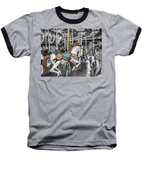 Carousel Horse Equ168125 Baseball T-Shirt