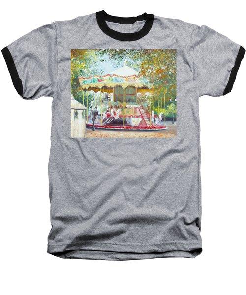 Carousel In Montmartre Paris Baseball T-Shirt