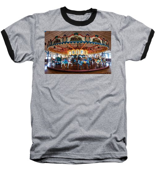Baseball T-Shirt featuring the photograph Carousel Ride by Jerry Cowart