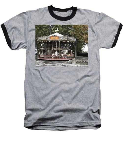 Carousel Baseball T-Shirt by Victoria Harrington