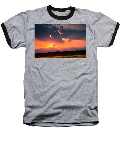 Baseball T-Shirt featuring the photograph Carpathian Sunset by Mihai Andritoiu