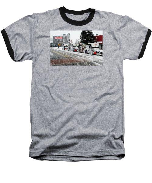 Carriage Ride Baseball T-Shirt by Janice Adomeit