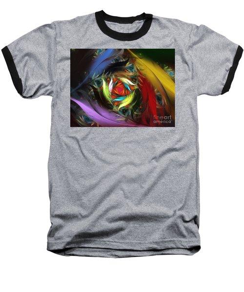 Carribean Nights-abstract Fractal Art Baseball T-Shirt
