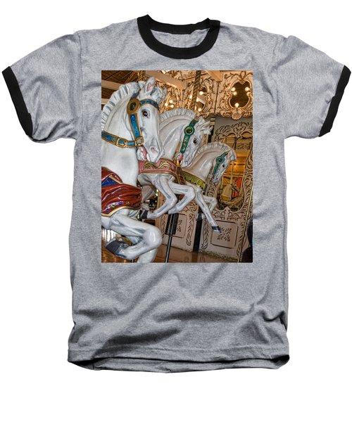 Caruosel Horses Baseball T-Shirt