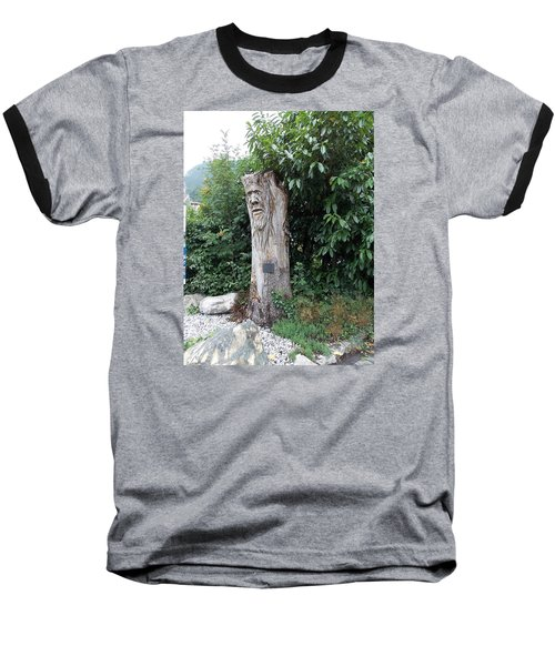 Carved Tree Baseball T-Shirt
