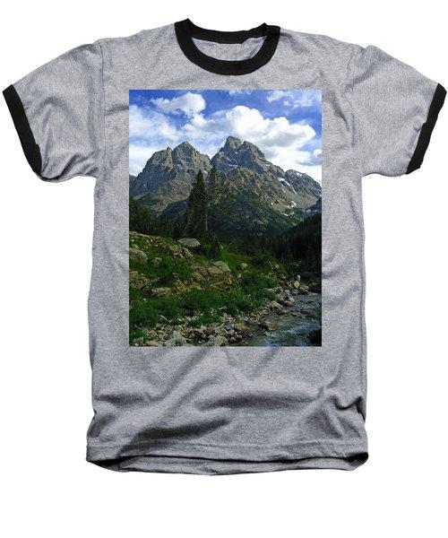 Baseball T-Shirt featuring the photograph Cascade Creek The Grand Mount Owen by Raymond Salani III