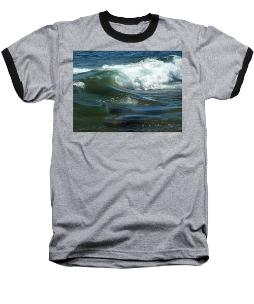 Baseball T-Shirt featuring the photograph Cascade Wave by James Peterson