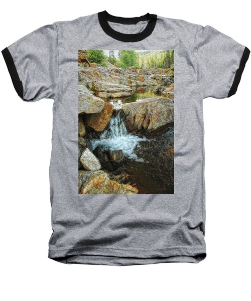 Cascading Downward Baseball T-Shirt