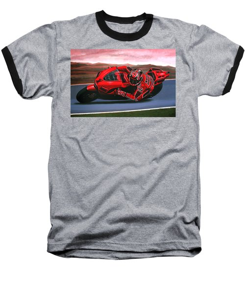 Casey Stoner On Ducati Baseball T-Shirt