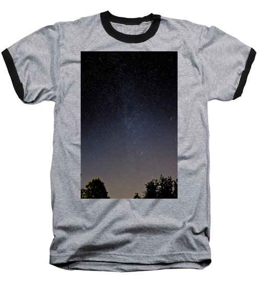 Baseball T-Shirt featuring the photograph Cassiopeia And Andromeda Galaxy 01 by Greg Reed