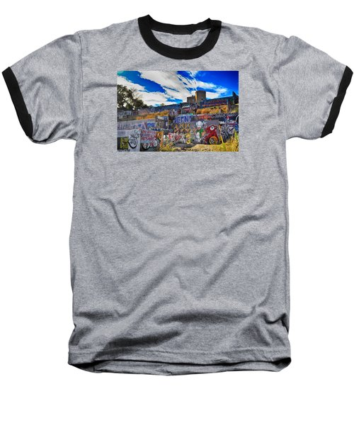 Austin Castle And Graffiti Hill Baseball T-Shirt