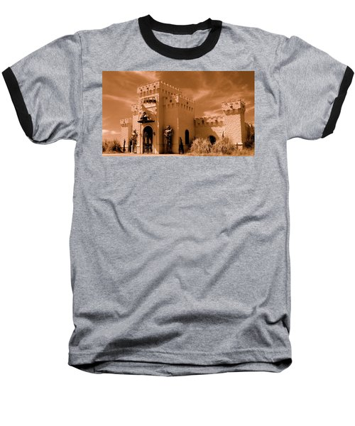 Baseball T-Shirt featuring the photograph Castle By The Road by Rodney Lee Williams