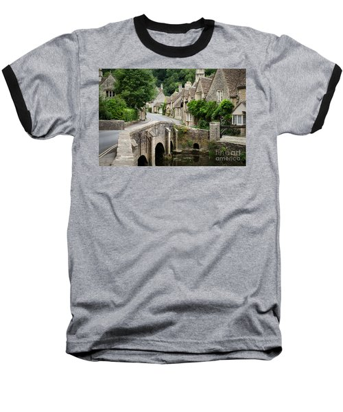 Castle Combe Cotswolds Village Baseball T-Shirt
