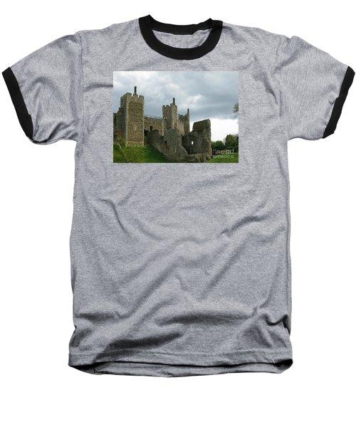 Castle Curtain Wall Baseball T-Shirt by Ann Horn