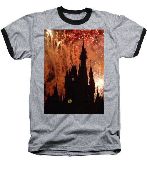 Baseball T-Shirt featuring the photograph Castle Fire Show by David Nicholls