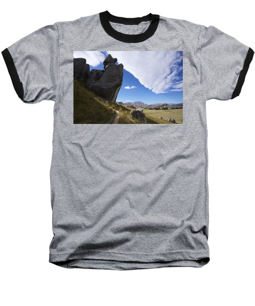 Castle Hill #7 Baseball T-Shirt by Stuart Litoff