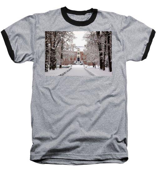 Castle In Winter Dress  Baseball T-Shirt
