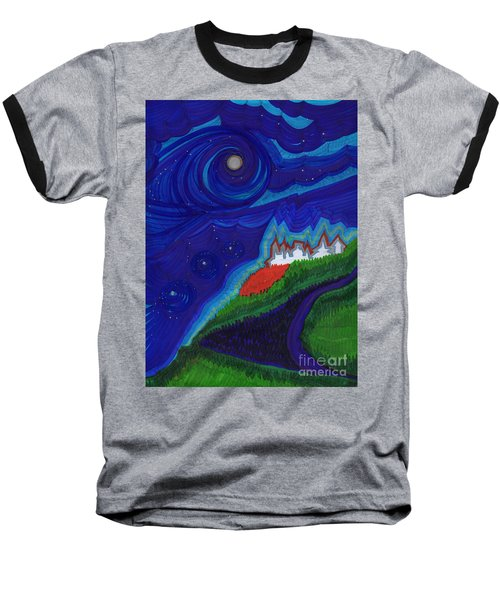Castle On The Cliff By Jrr Baseball T-Shirt