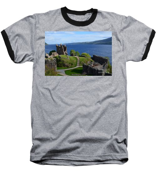 Castle Ruins On Loch Ness Baseball T-Shirt
