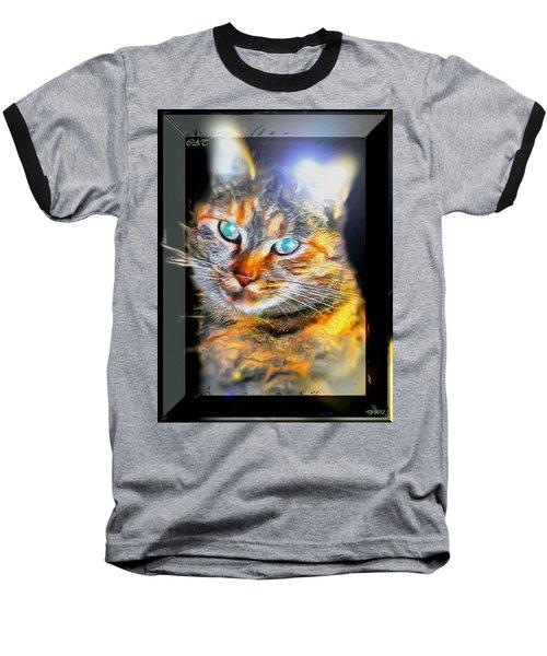 Baseball T-Shirt featuring the digital art Cat by Daniel Janda