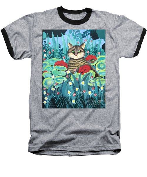 Cat Hiding In The Rainforest Baseball T-Shirt