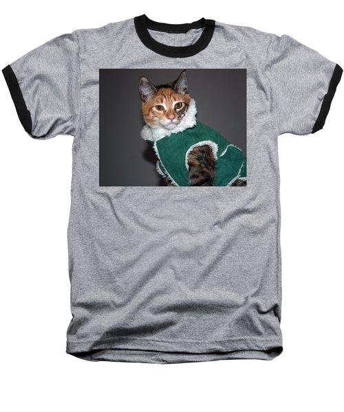 Cat In Patrick's Coat Baseball T-Shirt