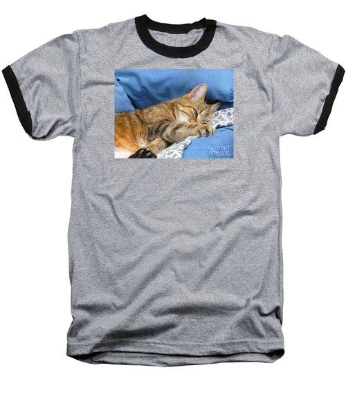 Baseball T-Shirt featuring the photograph Cat Nap by Lingfai Leung