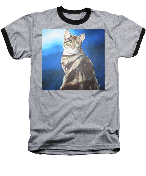 Cat Profile Baseball T-Shirt