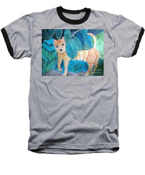 CAT Baseball T-Shirt by Sandy McIntire