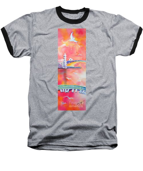 Baseball T-Shirt featuring the painting Catalan Sunset by Hisayo Ohta